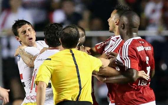 Bagarre générale à la fin d'un match de Copa Libertadores