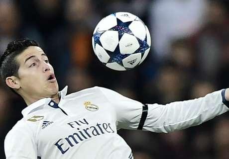 James, 99 partidos con el Real Madrid