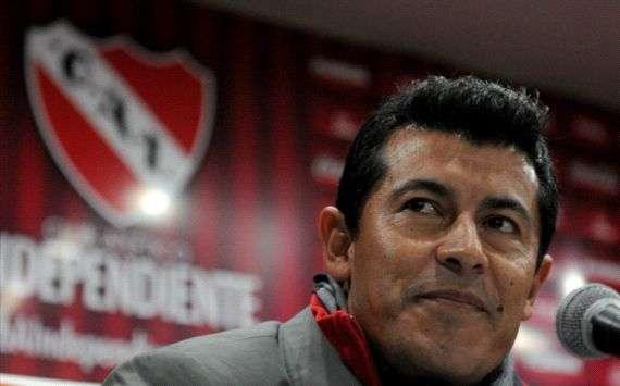 Jorge Almirón, DT de Independiente.