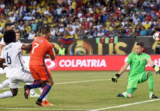 Alexis Sanchez David Ospina Chile Colombia Copa America 2016 22062016
