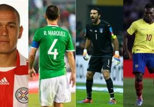 Te presentamos un equipo con los jugadores de mayor edad que verían acción con sus selecciones en esta doble fecha FIFA.