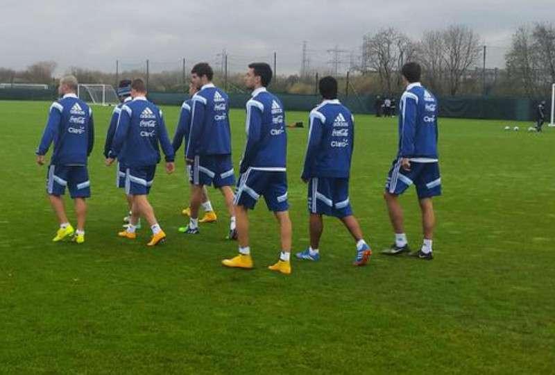 Nuevo entrenamiento de la Selección en Manchester