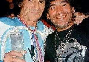 """""""Si Pelé es Beethoven, yo soy Ron Wood, Keith Richards y Bono"""", dijo alguna vez Diego Armando Maradona. Con Ronnie se vieron más de una vez."""