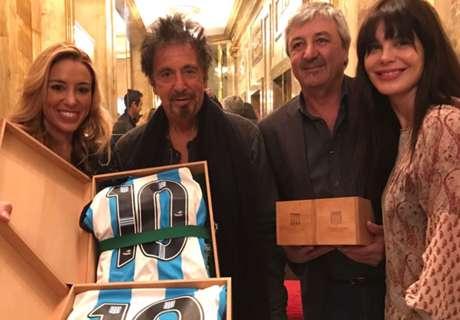 Al Pacino, hincha y socio de Racing
