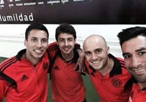 Apenas arribado a Formosa, Rojas publicó una foto con algunos de sus compañeros.
