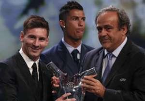 En 2009 y 2011 el rosarino ganó el premio al Mejor Jugador de la UEFA. Este jueves logró el galardón por tercera vez y no dejó dudas que sigue siendo el mejor.