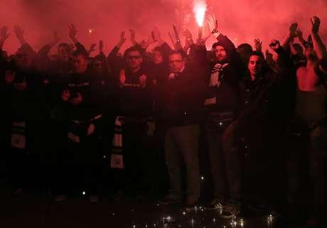 La fiesta de los hinchas de Bosnia