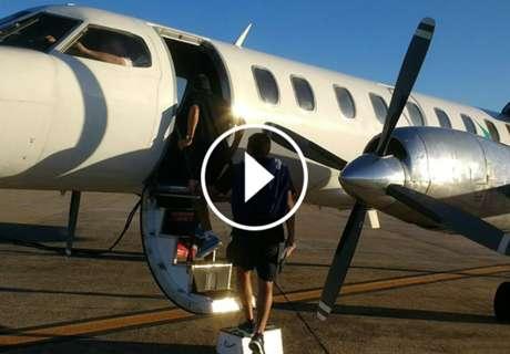 Un gran susto en el avión de Racing