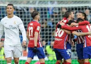 Real Madrid tiene una ventaja notoria en el historial sobre Atlético de Madrid: en 192 partidos, ganó 99 y perdió 51. Sin embargo, desde la llegada de Diego Simeone, el mano a mano está empatado: 7 victorias por lado y 5 empates.