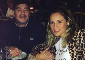 Rocío Oliva celebró el amor con Maradona.