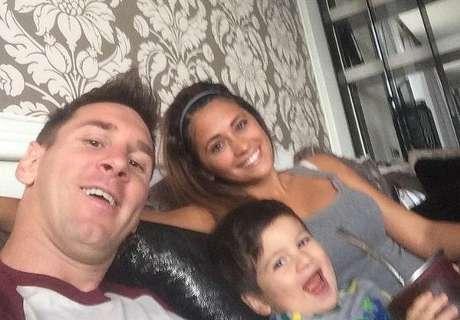 El saludo de Messi para Antonella