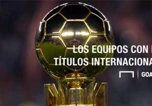 Ante Independiente Santa Fe, River consiguió su décimo título internacional. Igual queda lejos de la cima que ostentan Real Madrid y Barcelona. A continuación, todos los equipos ganadores.