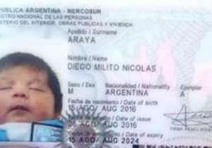 Otro fanático rindió homenaje a su ídolo bautizando a su hijo Diego Milito Nicolás Araya, en honor al Príncipe. En Goal repasamos otros casos similares.