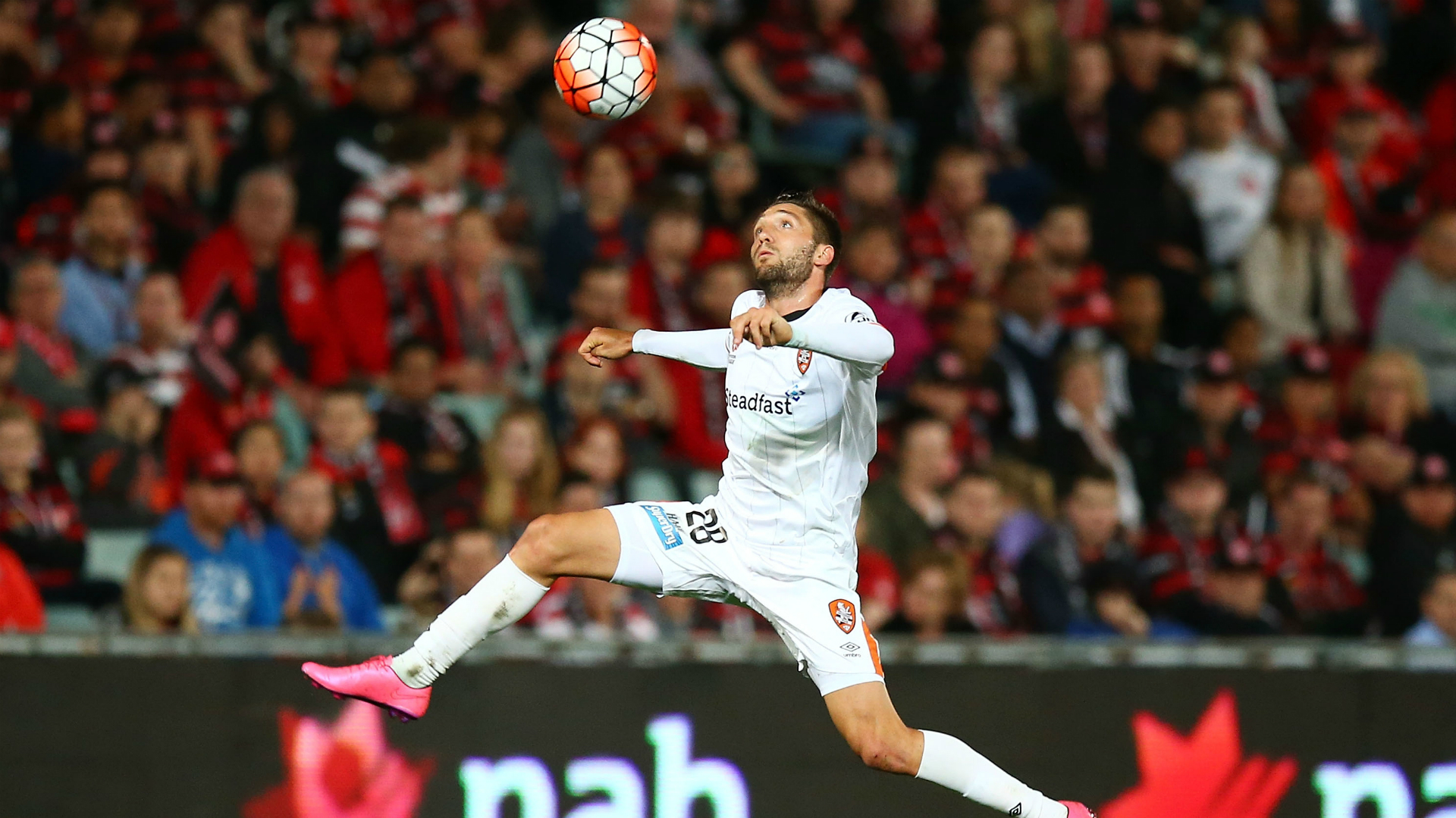 Brandon Borrello Western Sydney Wanderers v Brisbane Roar A-League 08102015