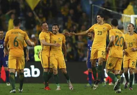 Gol Telat Australia Bungkam Yunani