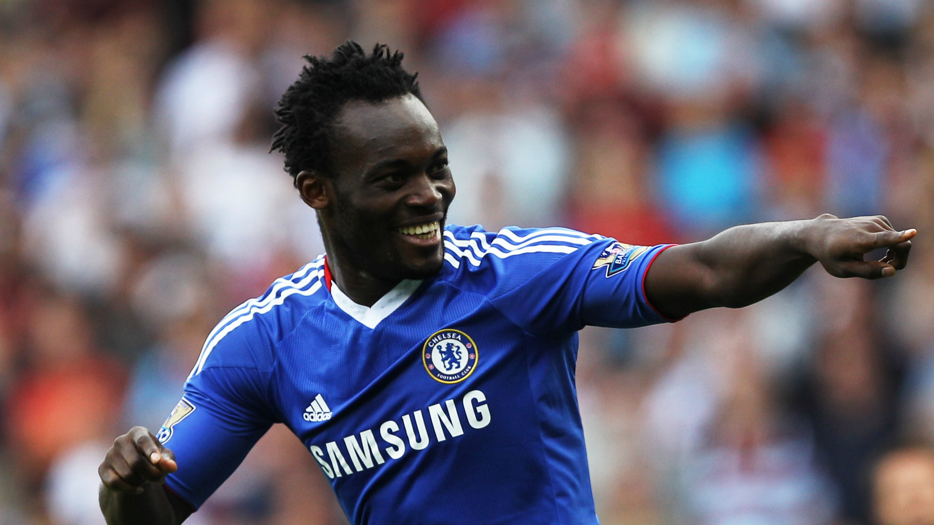 Michael Essien West Ham v Chelsea Premier League 11092010