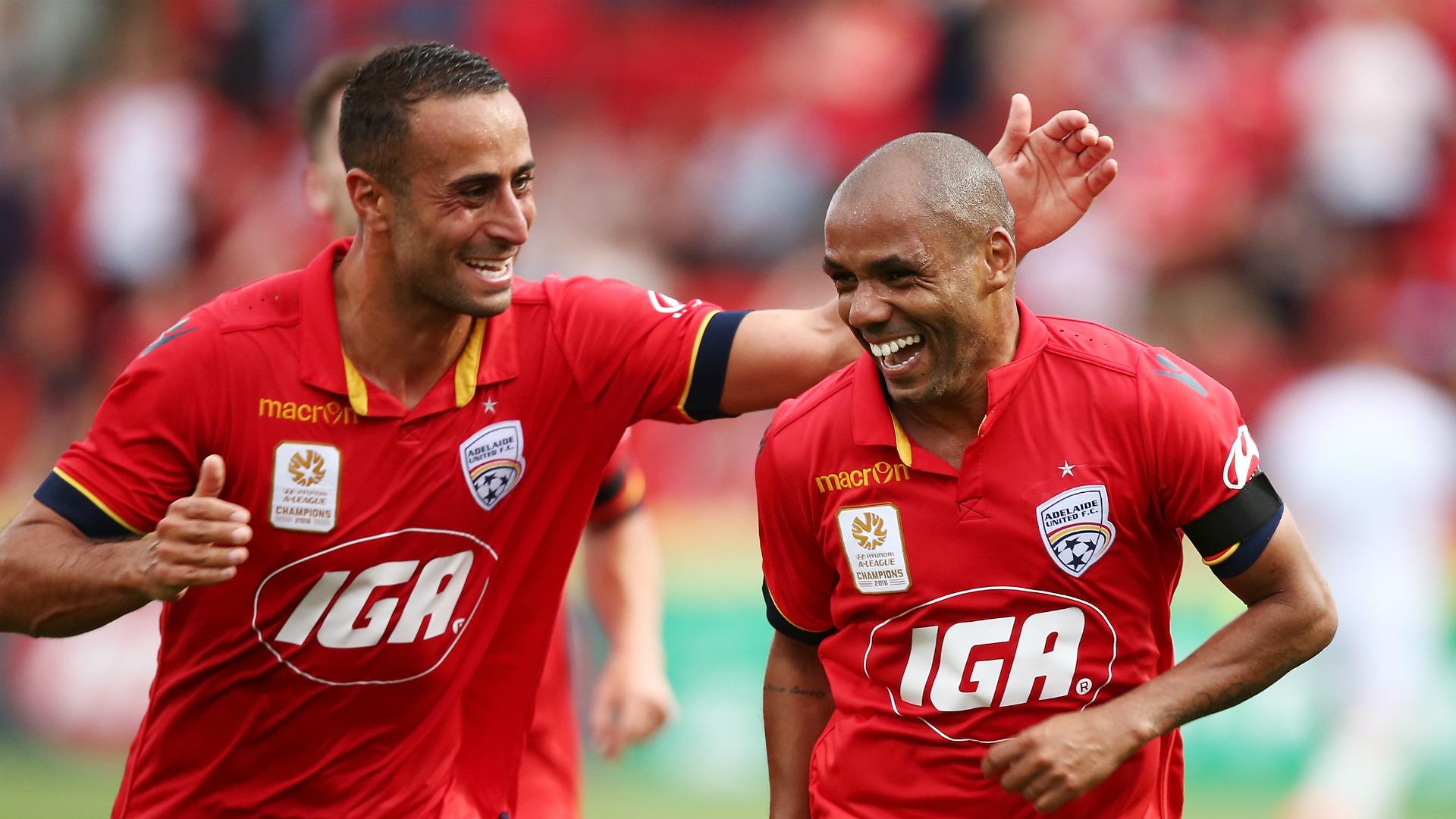 Henrique Adelaide United v Wellington Phoenix A-League 04122016