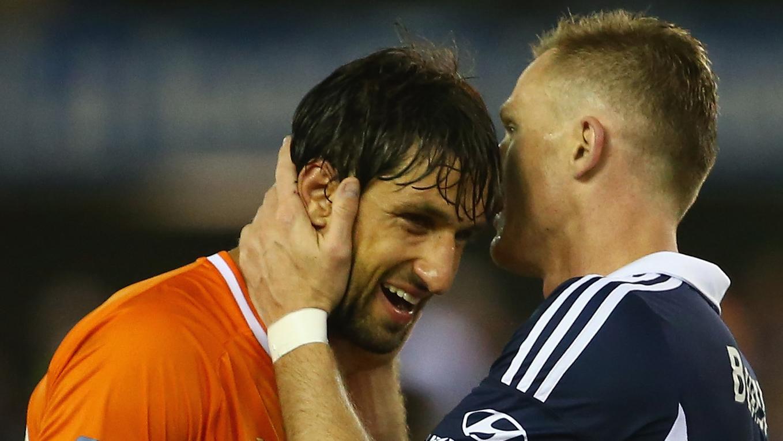 Thomas Broich Besart Berisha Brisbane Roar Melbourne Victory A-League 2014-15