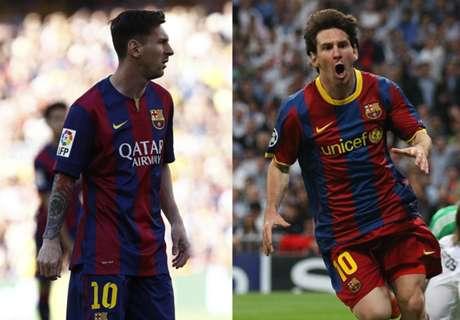 A seleção ideal entre o Barça de 2011 e o de 2015