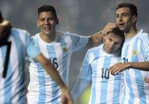 Marcos Rojo Javier Pastore Lionel Messi Argentina Paraguay Copa America 30062015