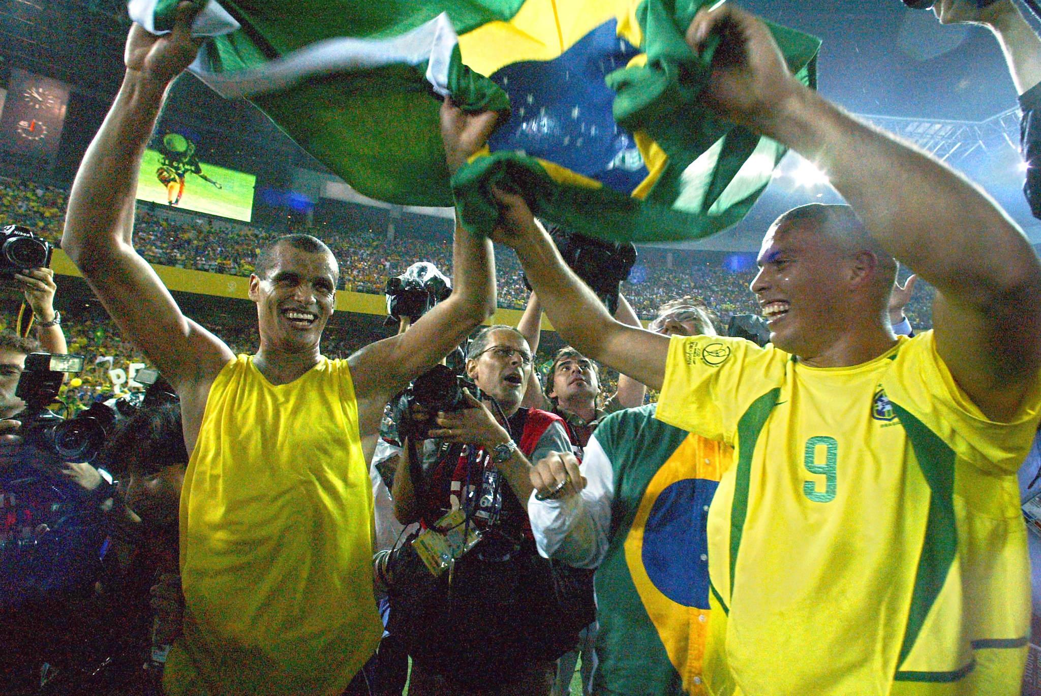Rivaldo e Ronaldo 2002