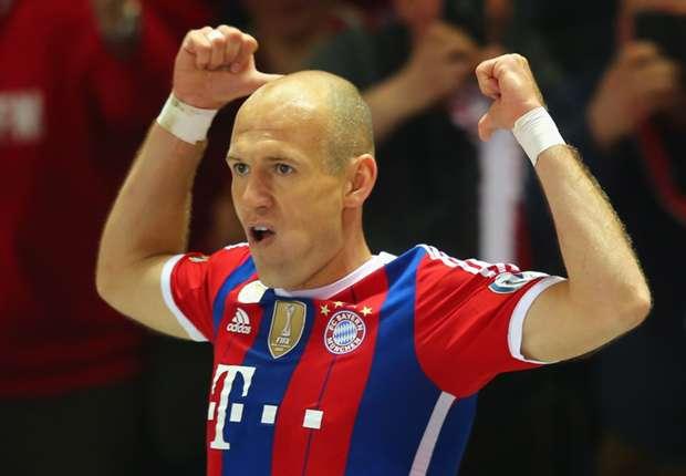 Robben, feliz por la marcha de su equipo
