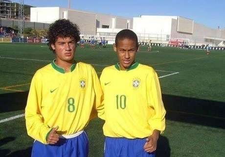 Old friends: Coutinho and Neymar