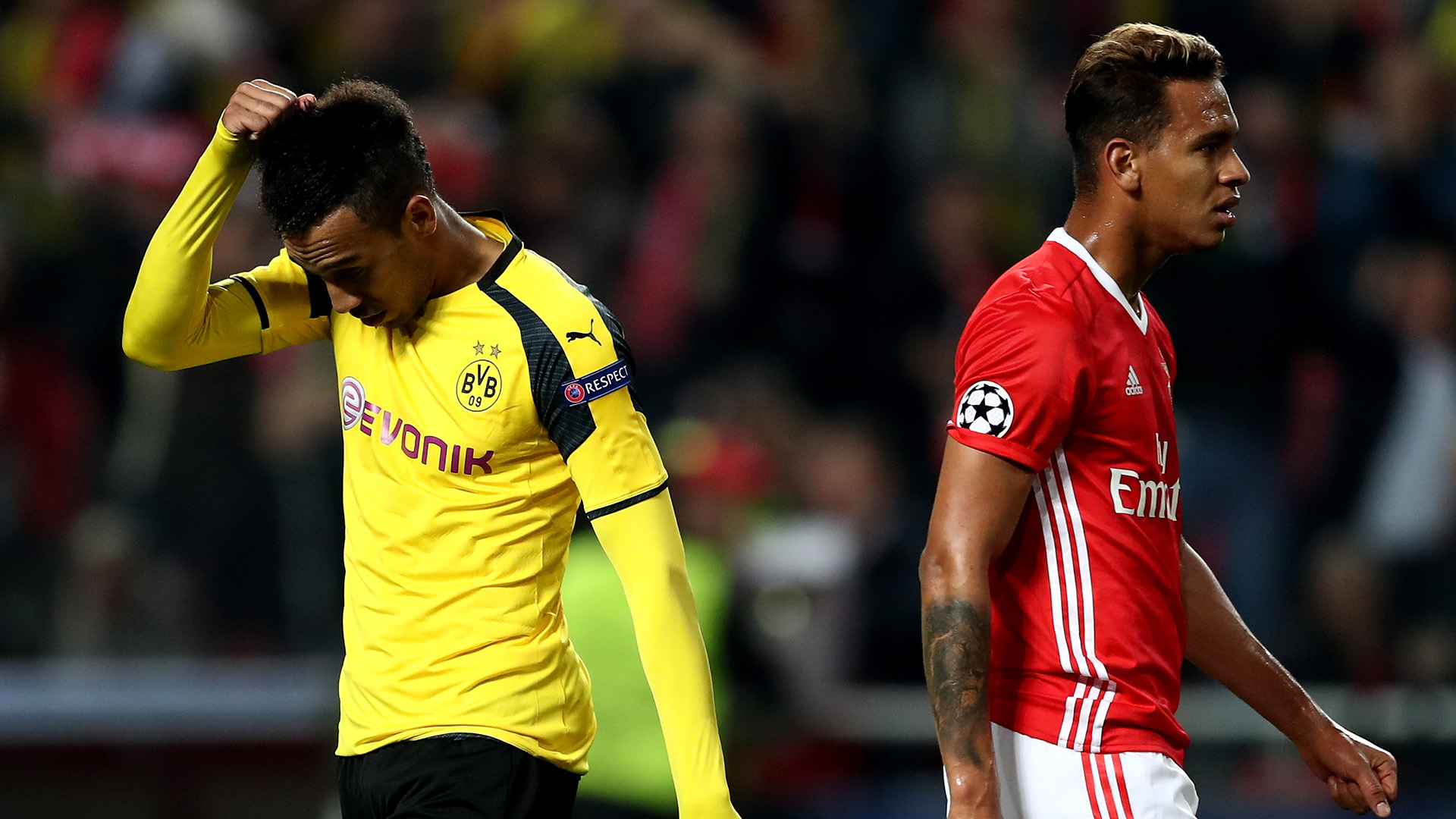 Filipe Augusto Aubameyang Benfica Borussia Dortmund Champions League R16 14022017
