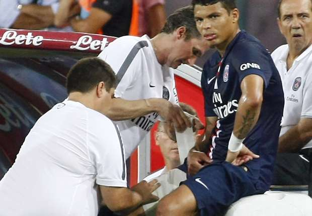 Thiago Silva sidelined for 'several weeks'
