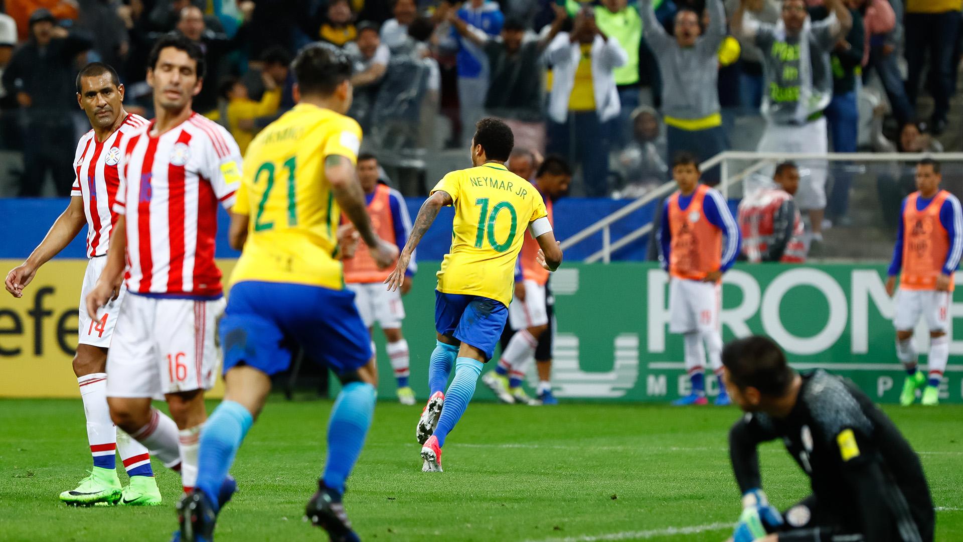 Neymar gol Brasil Paraguai Eliminatorias 2018 28032017