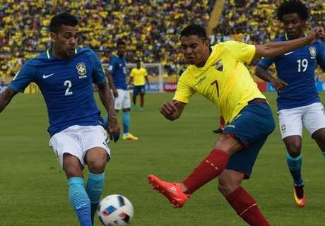5 confrontos entre Brasil e Equador