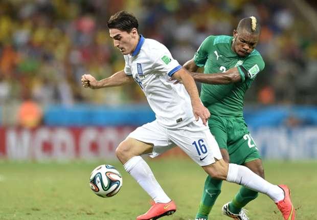 Las estadísticas del Grecia 2-1 Costa de Marfil