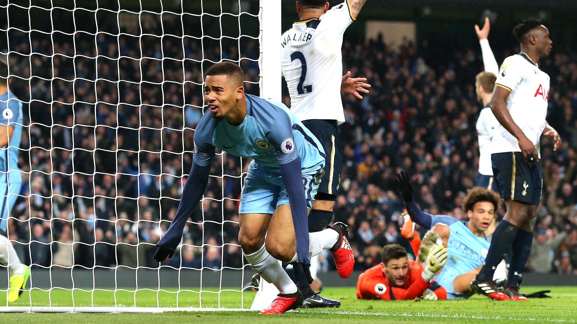 Gabriel Jesus Manchester City Tottenham Premier League 21012017