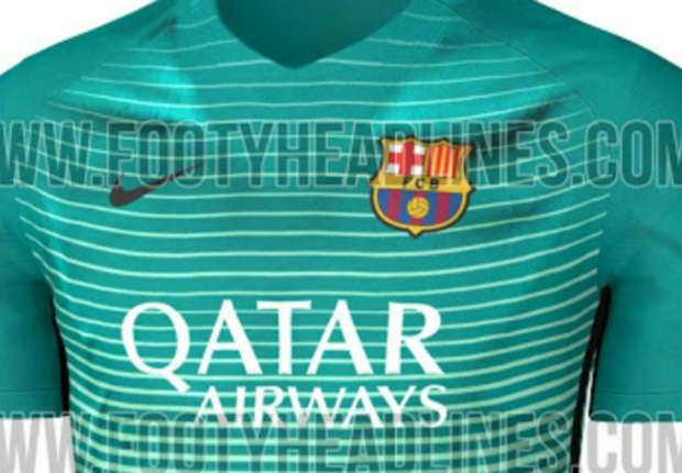 Site vaza terceira camisa do Barcelona para temporada 2016 2017 ... d49675d781de1