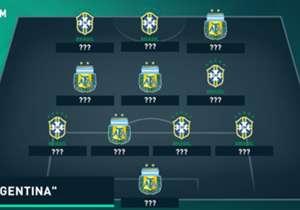 Às vésperas do Superclássico das Américas nas Eliminatórias, que vai estremecer o Mineirão, em 10 de novembro, confira uma seleção formada com o que há de melhor entre Brasil e Argentina!