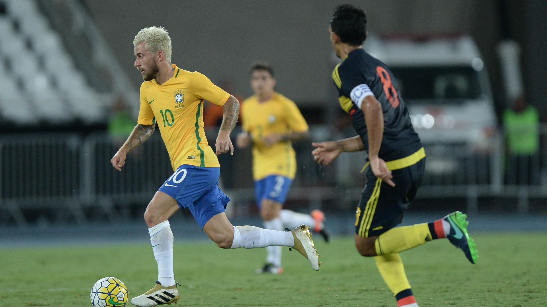 Lucas Lima Brasil vs Colombia amistoso 25 01 2017
