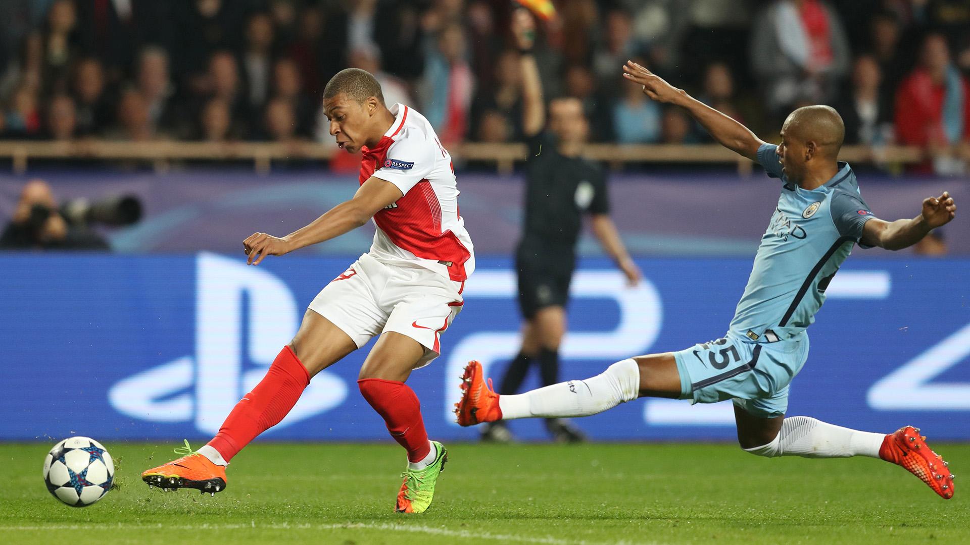 Kylian Fernandinho Monaco Manchester City Champions League R16 15032017