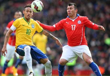 Neymar's fury at Medel stamp