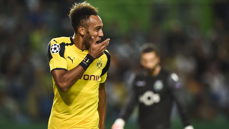 Aubameyang - Sporting vs Borussia Dortmund - UEFA Champions League 18102016