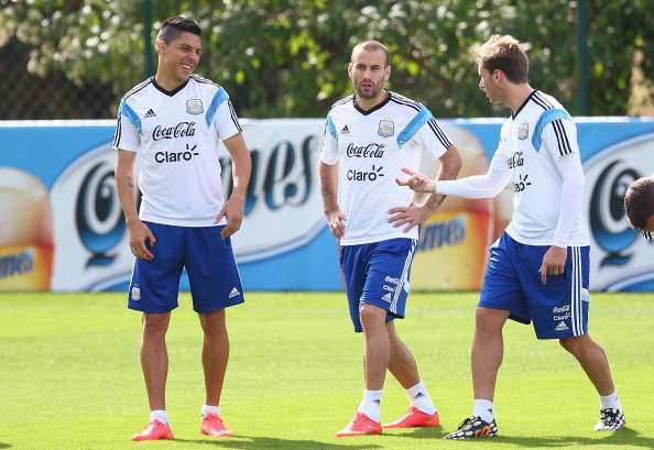 Argentina dalam sesi latihan