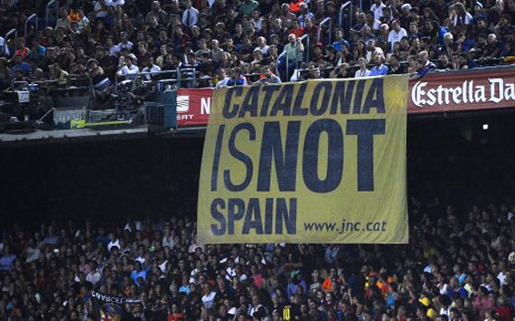 Banner Catalunya is not Spain