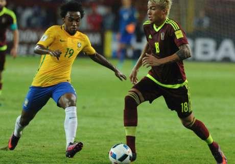 In numbers: Venezuela 0-2 Brazil