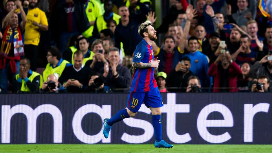 Messi master mestre Barcelona x City Champions League 19 10 2016