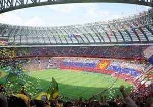 Luzhniki Stadium | Nama stadion diambil dari distrik setempat di Moskwa. Arena ini menjadi markas timnas Rusia dan tidak digunakan oleh klub. Pernah menghelat final Liga Champions 2008, stadion ini akan menjadi tempat pembukaan ditambah tiga pertanding...