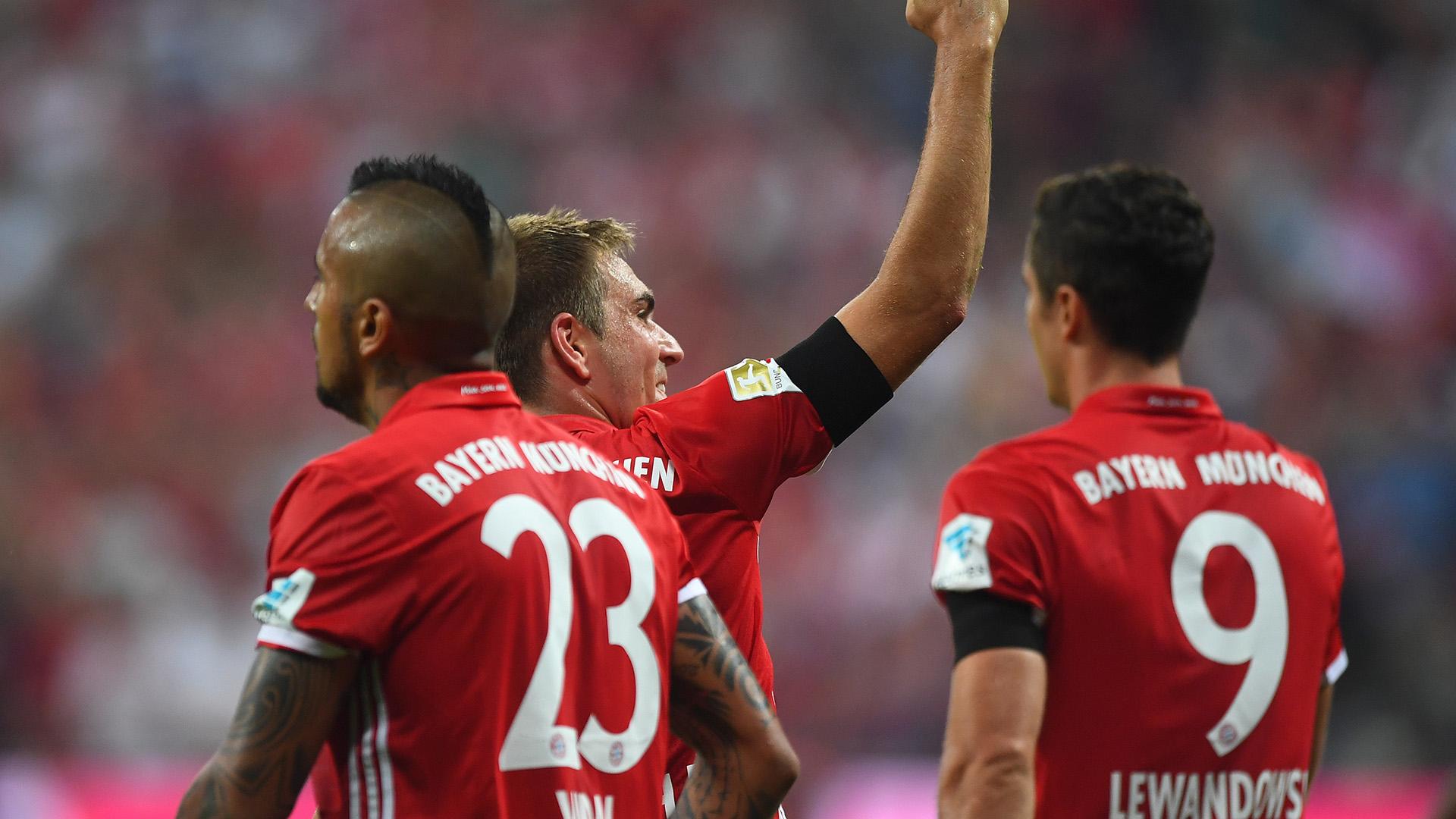 Bayern Werder Bremen Philipp Lahm Arturo Vidal Robert Lewandowski Bundesliga 26082016