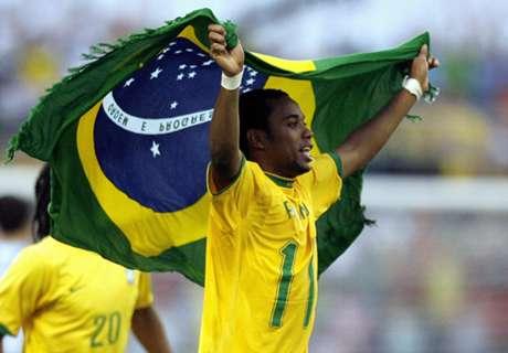 Robinho set for Brazil's 100-club