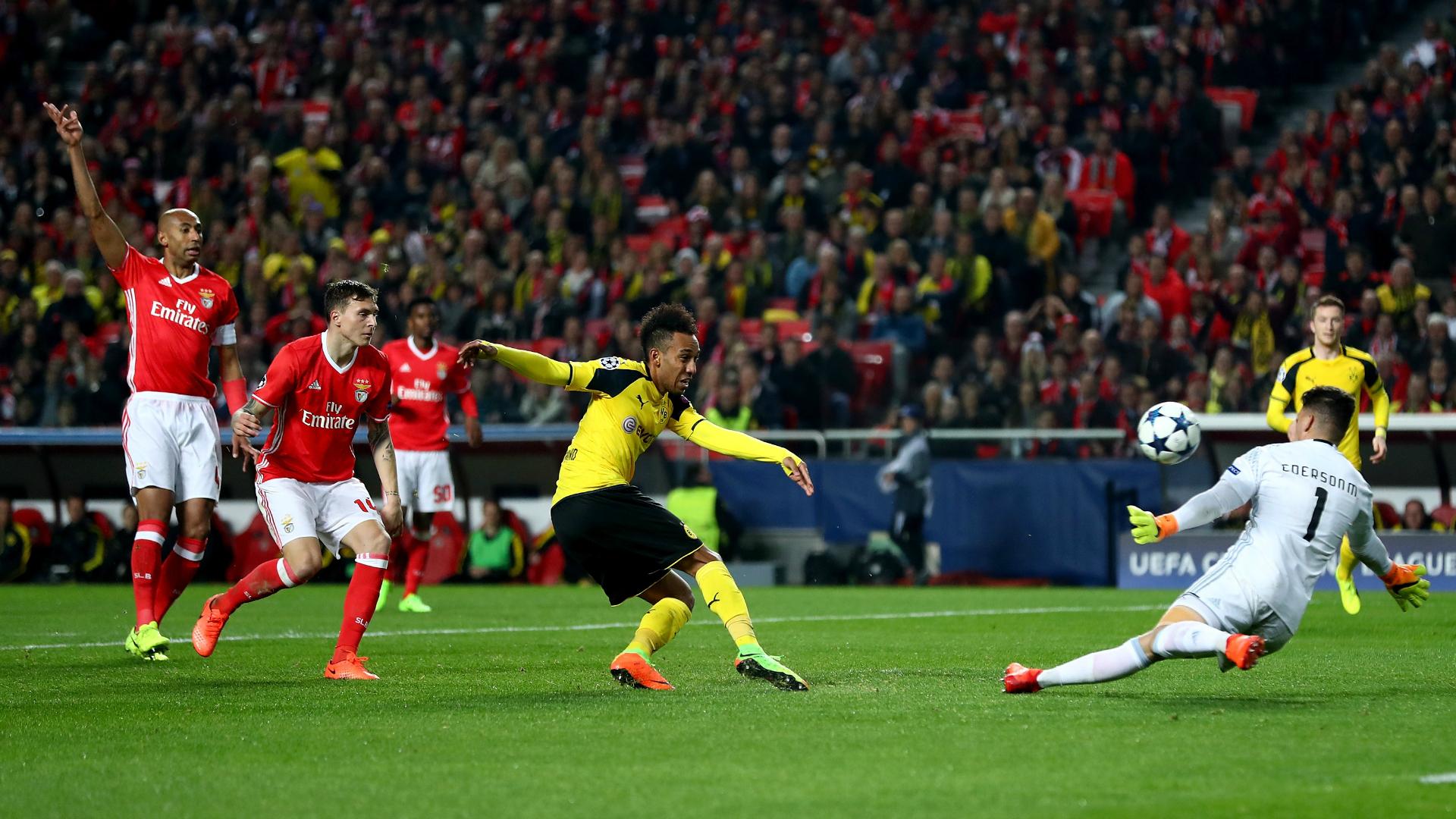 Ederson e Aubameyang - Benfica x Borussia Dortmund Champions League 14022017