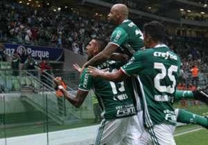 Felipe Melo e Róger Guedes foram os melhores jogadores do Verdão na vitória por 2 a 0 sobre o Mirassol. Confira os principais destaques!