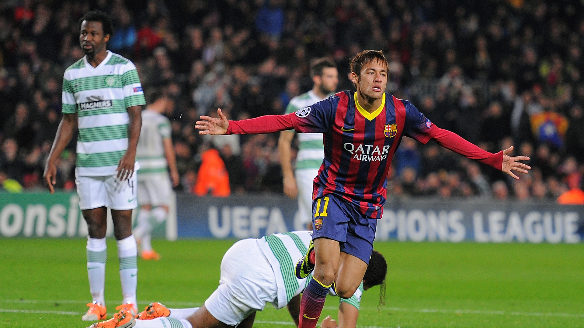 Neymar Barcelona Celtic Champions League 11122013