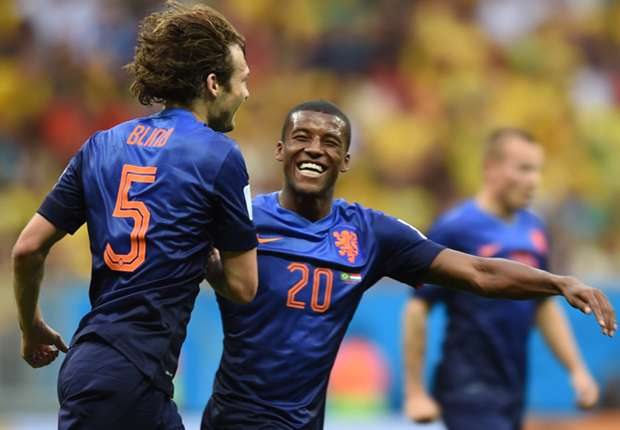 L'Olanda esulta dopo il 3-0